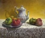 Lacy Heirlooms by Hans Guerin-Oil-20X24