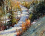Cross Country Ski Path by Ann Hardy-Oil-16X20