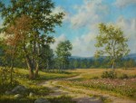 Spring Pastures by Barbara Nuss-Oil-16X20