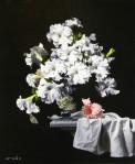 Concerto of Petunias by Scott Royston-Oil-24X20