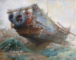Grandpa's Boat by Jian Wu-Oil- 16X20
