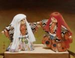 Lion Dancers by Karen Yee-Acrylic-14X18
