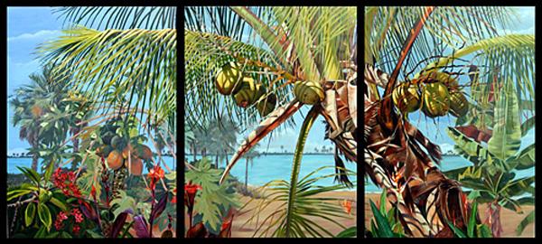 Inlet I-II-II Triptych by Joyce Lazzara. Size 48X108