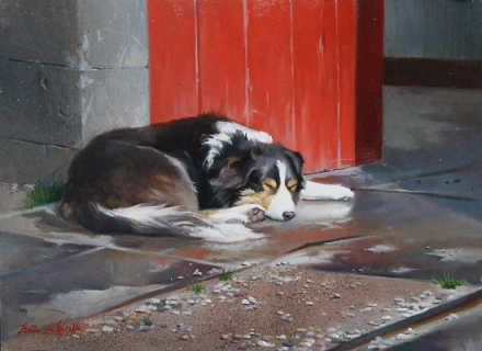 loyalle Waiting by Beth de Loiselle - Oil 9X12