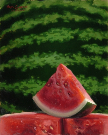 Rind by Hans Guerin - Oil on panel - 10X8