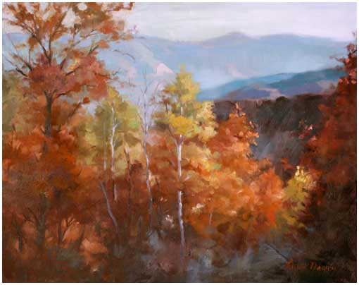 Color of Fall by Linda Nearon - Oil -16X20