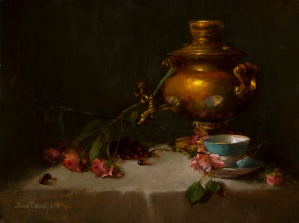 Samovar and Reflective Cup by Ann Hardy