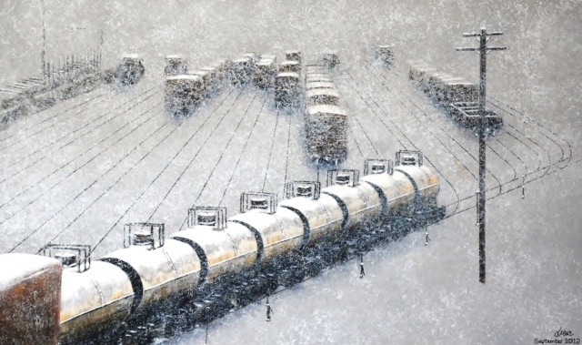 Snowy Freight by Dale Macafee