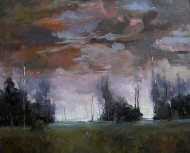 Late Day Storm by Nina Walker. Size 20x24 SOLD at the Best of America Exhibit 2014