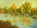 A fun Plein Air from the Wabash-River 6X8in
