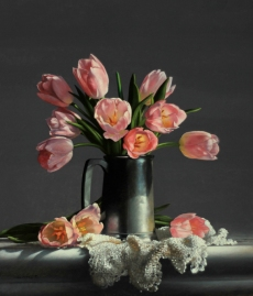 Tulips/Pewter Mug by Larry Preston -www.larrypreston.com