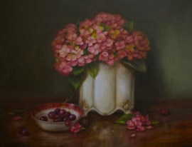 Spring Hydrangea by Lisa Price - www.lisapricefineart.com