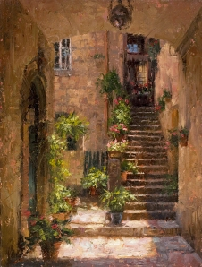 Stairway Home Italy by Todd A Williams