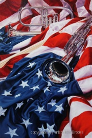 Patriotic Bell by Signature Artist Hebe Brooks - Best of America Exhibit 2012