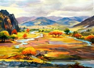 """Mountain Streams"" by Charles Redwood"