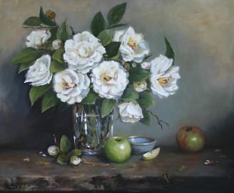 NOAPS Paula Holtzclaw Spring Camellias 20x24