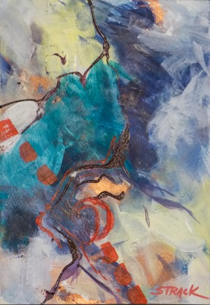 NOAPS Hahnemuhl 5. Abstract painting by Annie Strack, acrylic on paper