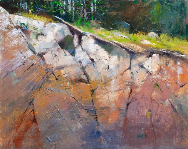 NOAPS HandellRock Ledge by Albert Handell Oil 16x20 $8500