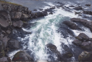 NOAPS Cutter Cascading_15x22.5_Acrylic_PrivateCollection