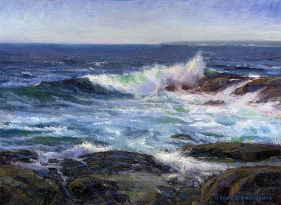 NOAPS D'Amico Atlantic Surf 12x16 oil