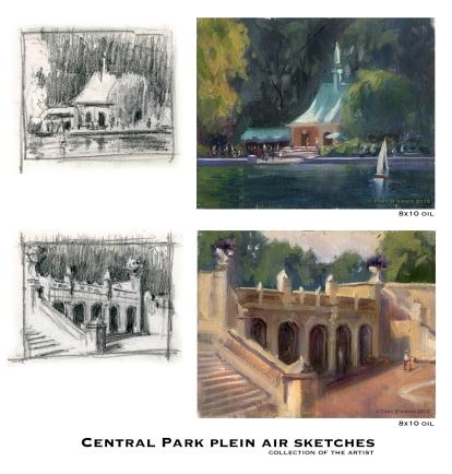 NOAPS D'Amico Central park plein air sketches hi-res
