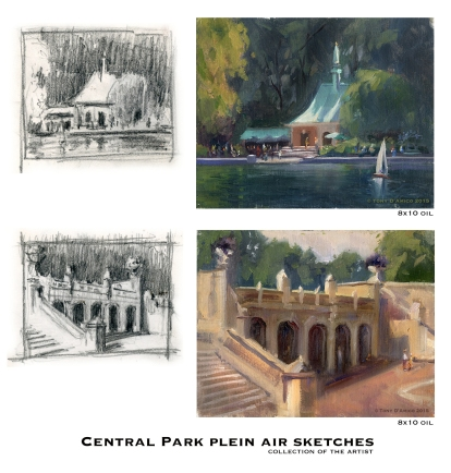 NOAPS D'Amico Central park plein air sketches hi-res
