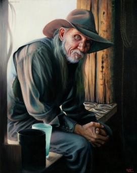 NOAPS Ramos The Blacksmith 24x30 Acrylic on Canvas