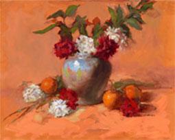 NOAPS Blue Vase with Oranges Farrell 16x20Blue-Vase-with-Carnation