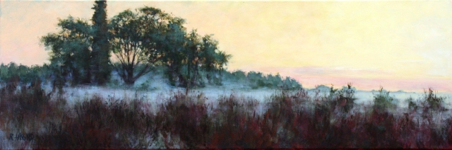 Ground Fog at Dawn, Central Florida Acrylic on canvas 12