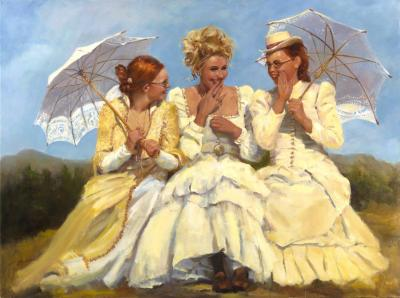 NOAPS Marchand Sharing Secrets 30x40 Oil on Canvas