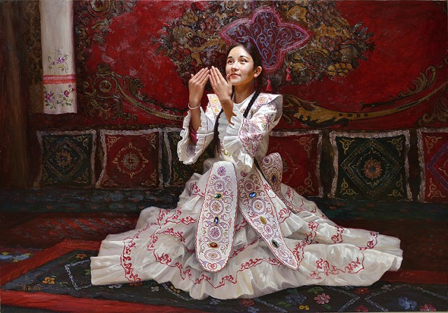 NOAPS Fei Gao Kazakh girl in a dress