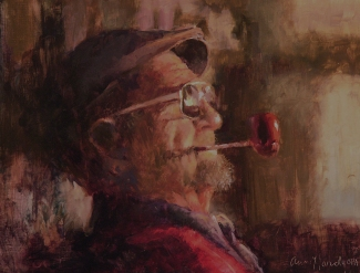 NOAPS Hardy Italian Gentleman., Oil, 12 X 16, Private Collectionjpg