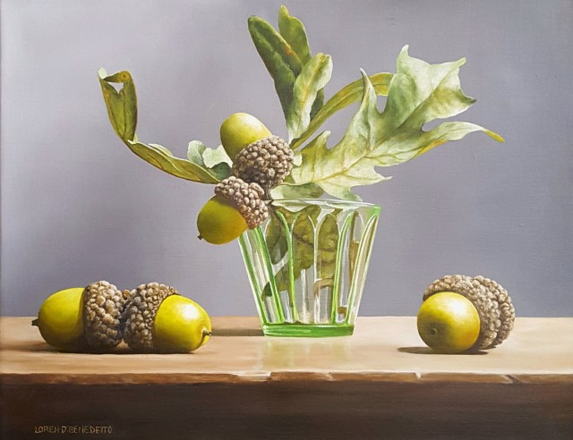 NOAPS DoBenedetto_acorns and green glass14x18