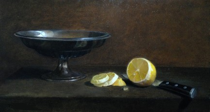 NOAPS La Rock Still Life with Lemon 9x16
