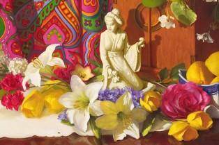 NOAPS Reeves_Choosing Joy - Detail Image 18 x 36 oil
