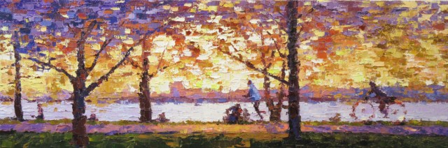 NOAPS Reed Morning Along the River 8x24
