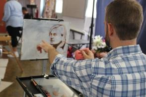 NOAPS Adam with Michelle's Portrait
