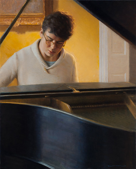 NOAPS Morrow The Young Pianist 30x24