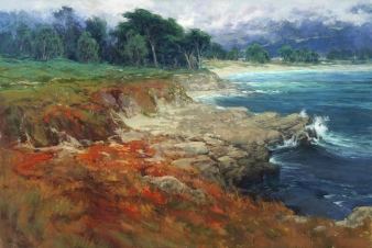 NOAPS Lordier Intrinsic Beauty, Monastery Beach 27x40