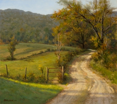 NOAPS Pot Rural Hideaway - 25 x 28 - Oil - Private Collection