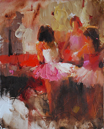 NOAPS Johnson A Pink Dance 10x8 oil