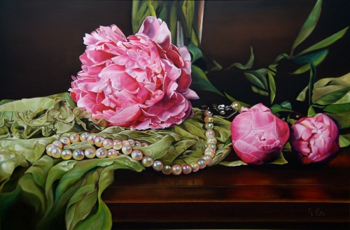 NOAPS Pitts Her Majesty, oil on canvas, 48x72 inches, private collection