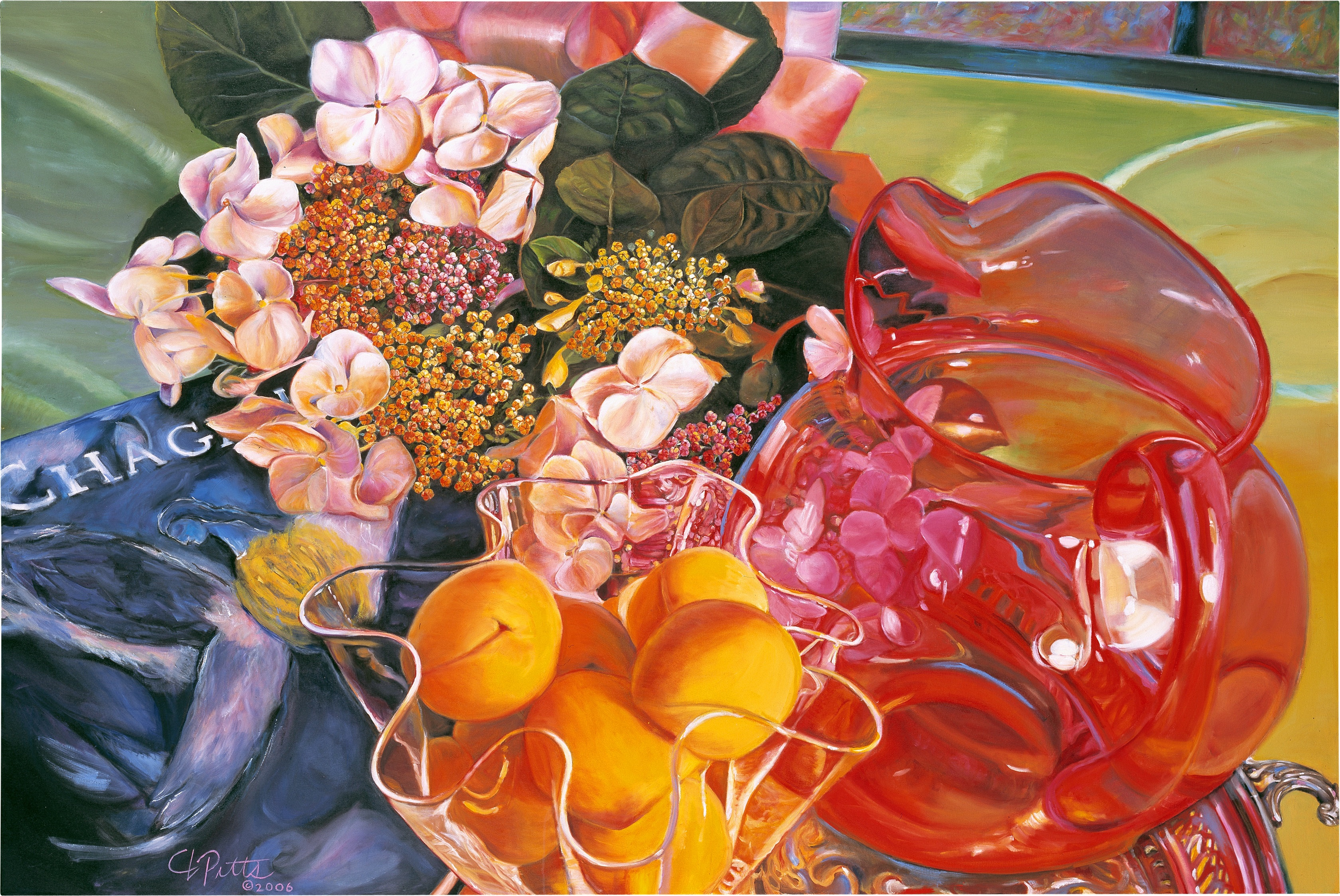 NOAPS Pitts Magenta Sunset, oil on canvas, 48x72 inches, collection of the artist